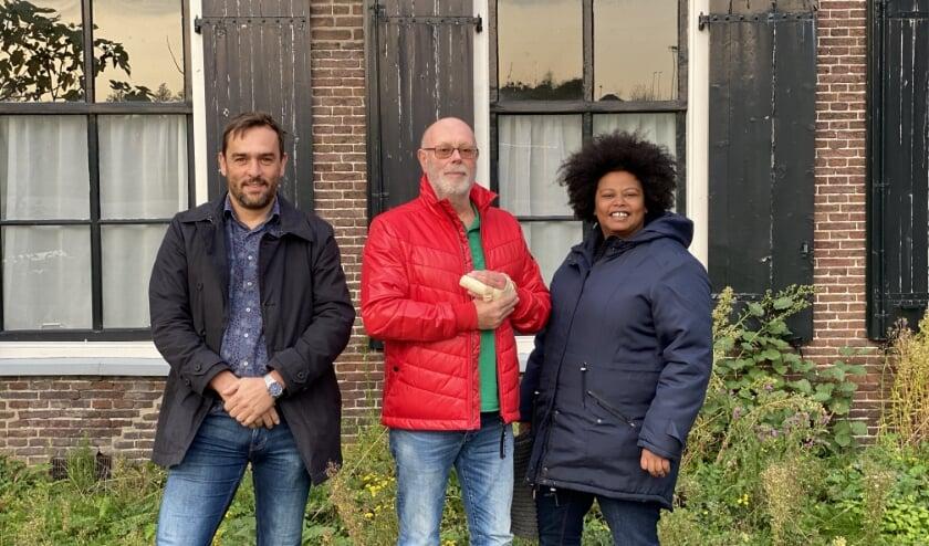 <p>Oprichters Thom van de Pol, Wil Verhoeven en Fardusa Essa. (Foto: Priv&eacute;)&nbsp;</p>