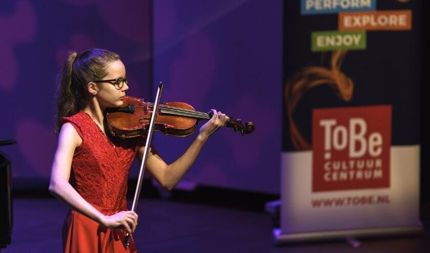 <p>De winnaar van het ToBe Solisten Concours van vorig jaar: Isaura Laffeber. (Foto: Danny van der Weck)</p>