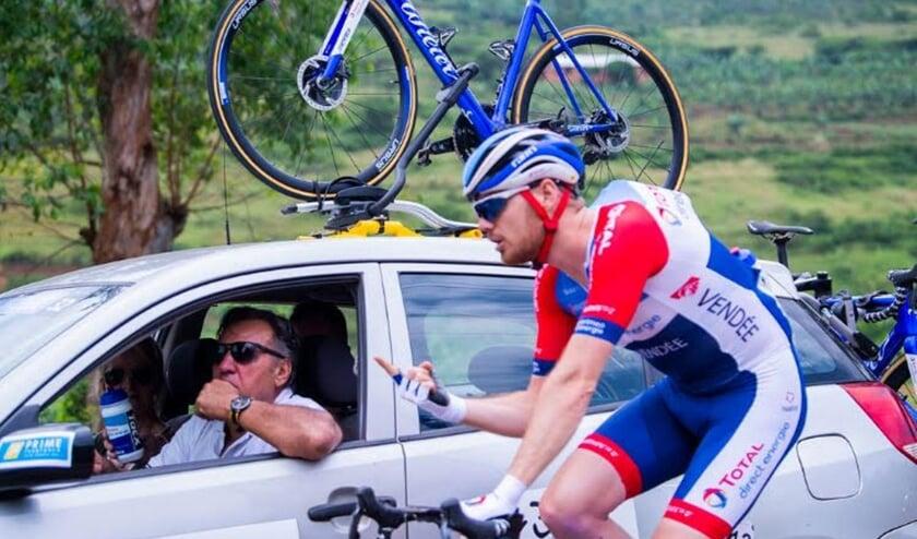 In zijn laatste seizoen tussen de profs kwam oud-nationaal kampioen Pim Ligthart uit Bergeijk in competitie voor het Franse team Total Direct Energie