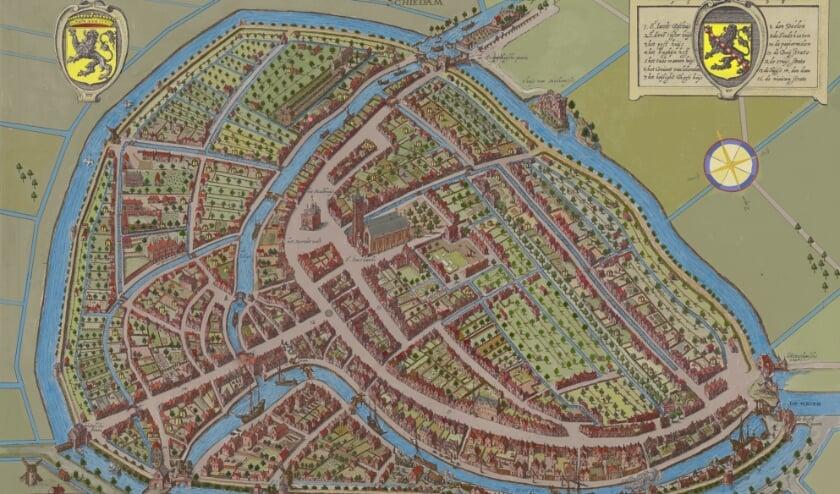 <p>Met deze full colour plattegrond kan de historische stad andermaal op een nieuw manier bekeken en ervaren worden. (Beeld: Marcus Laman)</p>