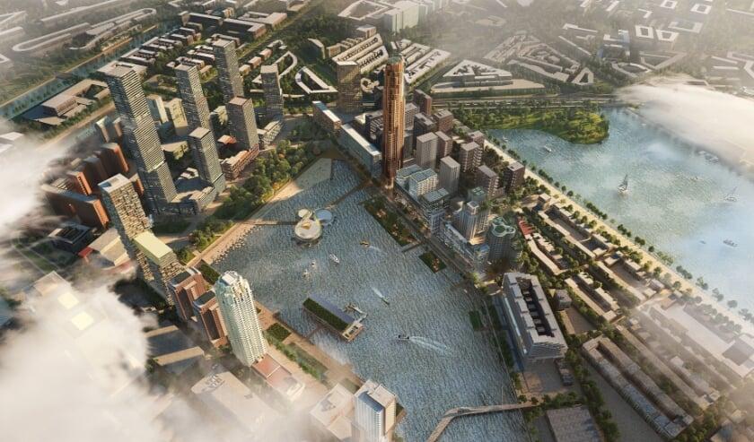 <p>De toekomst van het terrein aan de Rijnhaven ziet er zo uit.</p>