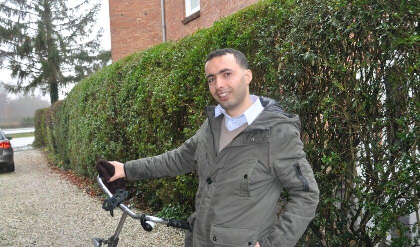 Hussam al Hasan: 'Fietsen deed ik in Syrië ook al.'