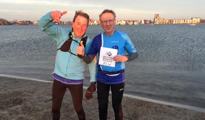 <p>Jan Weerelts en Jos Borghols onderweg voor 3FM Serious Request.</p>