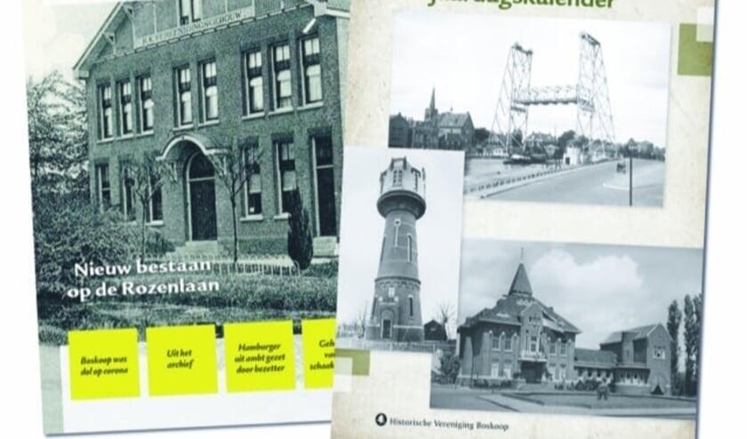 <p>De eeuwigdurende kalender van de Historische Vereniging en de voorkant van de nieuwe Pakttijd. Foto: Karin Pellekooren </p>