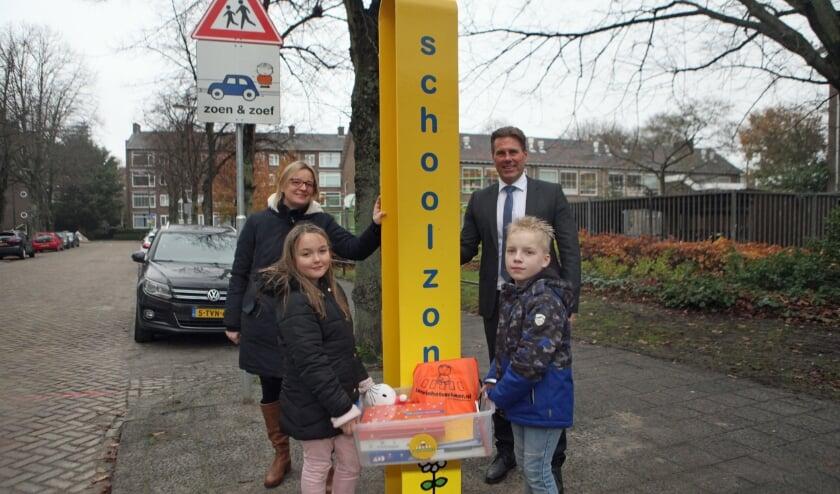 <p>Wethouder Mobiliteit Bj&ouml;rn Lugthart was aanwezig om de schoolzone officieel te openen. </p>