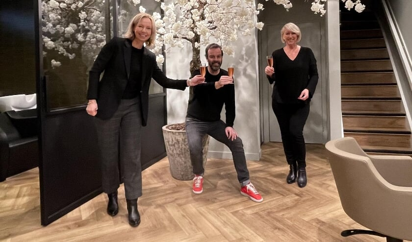 <p>Marjon Stamsnijder, Arjan Bevers en Laura van der Graaf.</p>