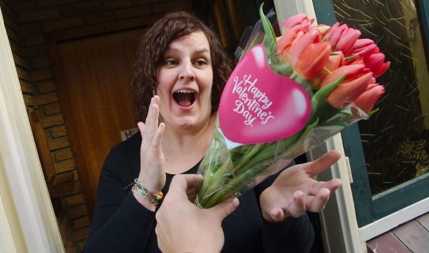 Op 14 februari is het Valentijnsdag, dé dag waarop stille aanbidders een cadeau laten bezorgen. (Foto: Gert Perdon)