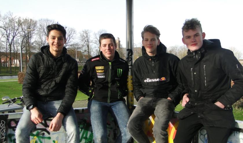 Matthieu Koster, Xvarius Heins, Thom van Dijen en Lars Bruijnes (v.l.n.r.). (Foto: Leo Polhuijs)