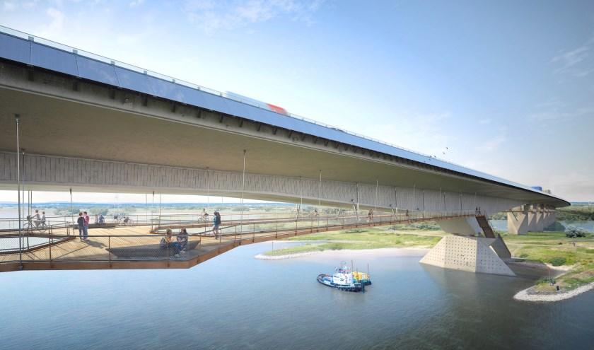 GelreGroen heeft een voorstel gedaan voor een ontwerp van de brug over het Pannerdensch Kanaal.