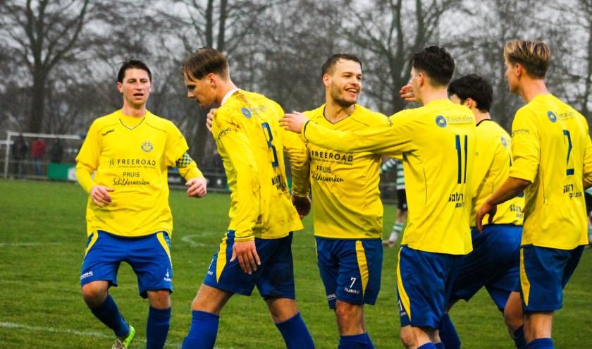 Zwolsche Boys en sv Hatto-Heim delen de punten. Het werd 1-1. Foto: Gradus DIjkman