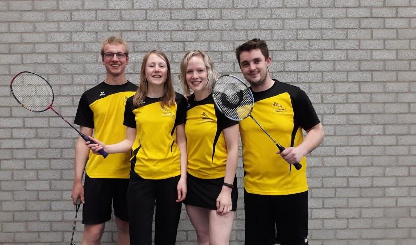 van links naar rechts: Toby Teerink, Emmelie Prins, Judith Schuurman en Tijs Smits