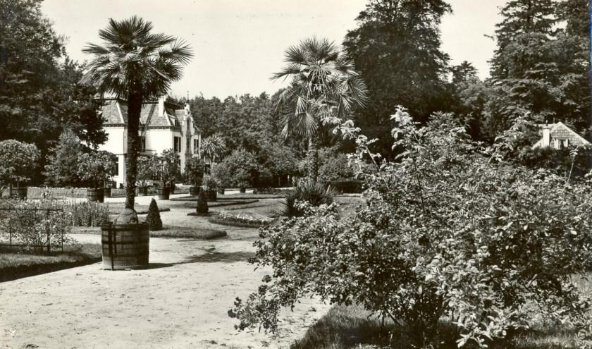 Een oud plaatje, ooit gemaakt op landgoed  Staverden. (Foto: archief Landgoed Staverden)