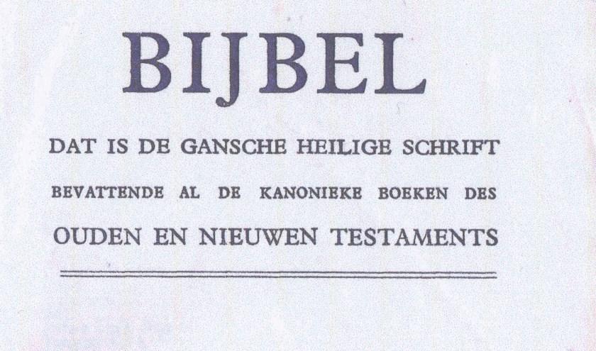 Een fragment van de gedrukte bijbel.