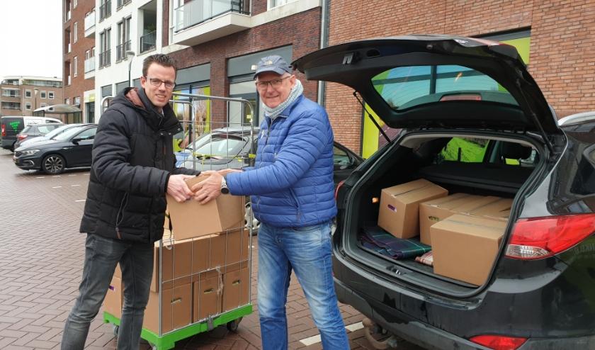 Links Jan-Joris te Kulve en rechts Dick Nederend.