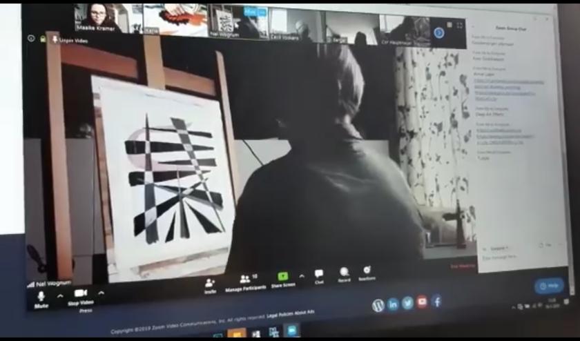 De meeste beeldende kunstlessen van het KunstenHuis worden reeds online gegeven.