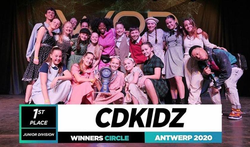 CDKidz, met dansers in de leeftijd van 10 tot 15 jaar, wint in een sterk deelnemersveld met 16 deelname teams. FOTO: CDD.