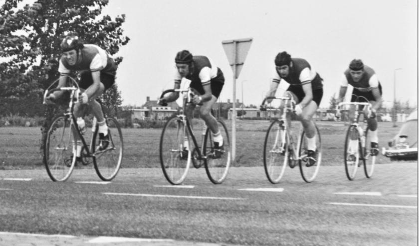 NK clubkampioenschappen 1970 Dronten vlnr John Toor, Wil Toor, John Piket en Gerard den Hartog.
