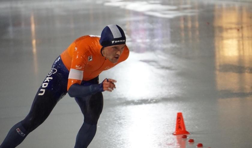 Jeroen Janissen op weg naar brons op de 10 kilometer. Foto: Bob Kerkhofs