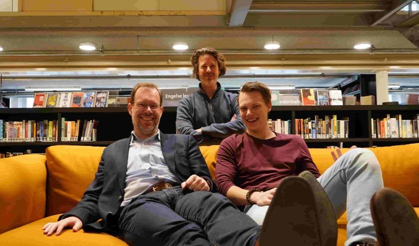De organisatoren Bert Frölich, Christiaan Frölich en Thijs Bisschops. (foto: Rens Robben)