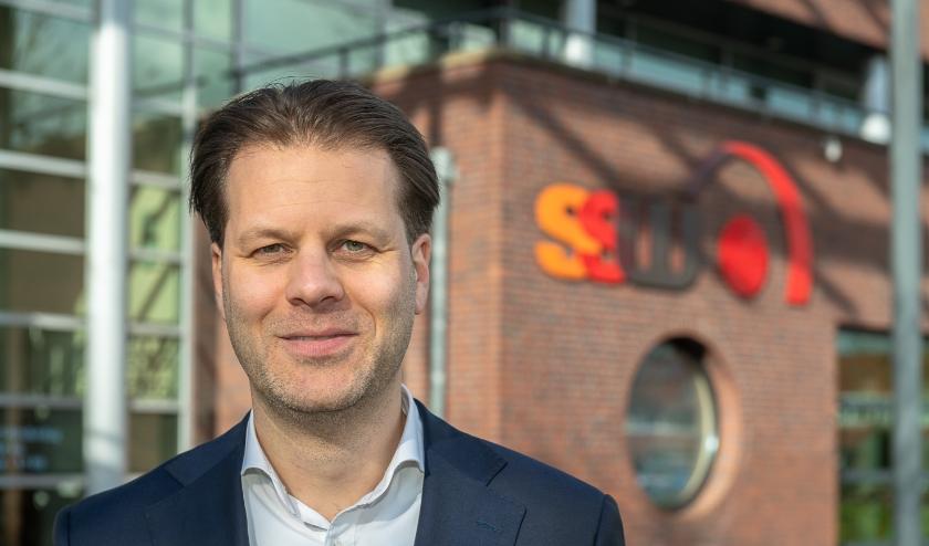 Danny Visser bij het SSW kantoor aan de Waterman in Bilthoven.