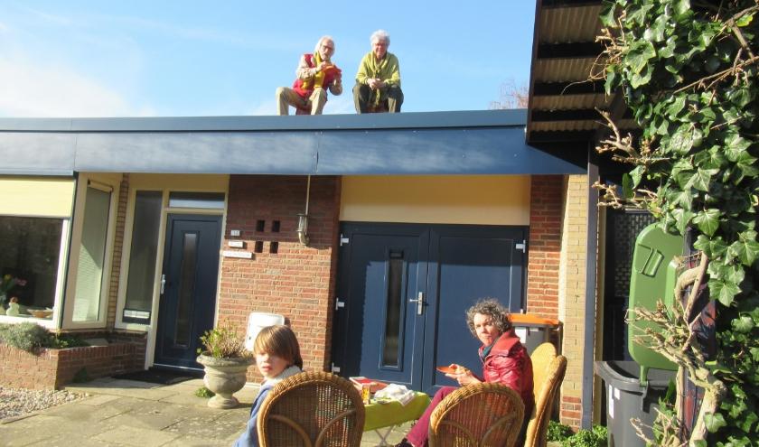 (Groot)ouders op het dak en de kinderen met (alle)beide benen op de grond!