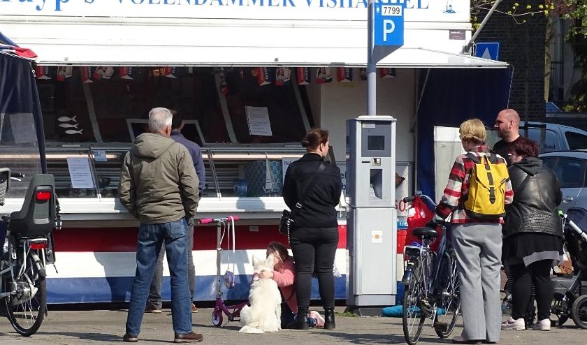 Het was zaterdag op het Rubensplein een komen en gaan van vaste klanten.