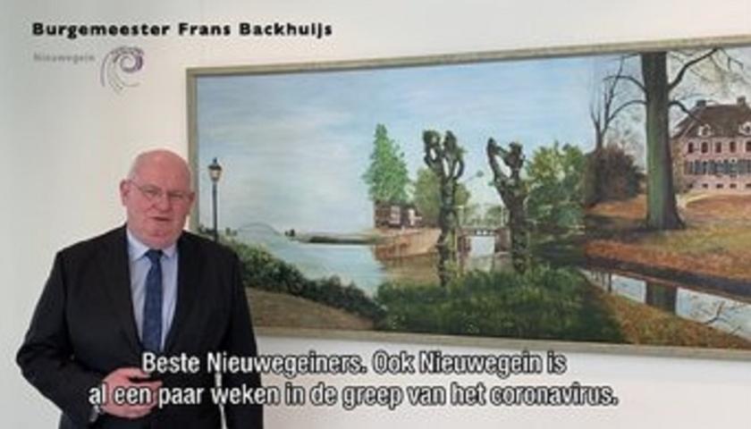 Burgemeester Frans Backhuijs heeft een indringende videoboodschap voor alle inwoners.