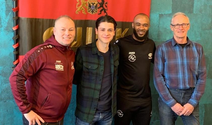 Vlnr. Remco Dekker, Jonathan van Dongen, Lorenzo Davids en Peter Schulpen. (Foto: FC Social Work)