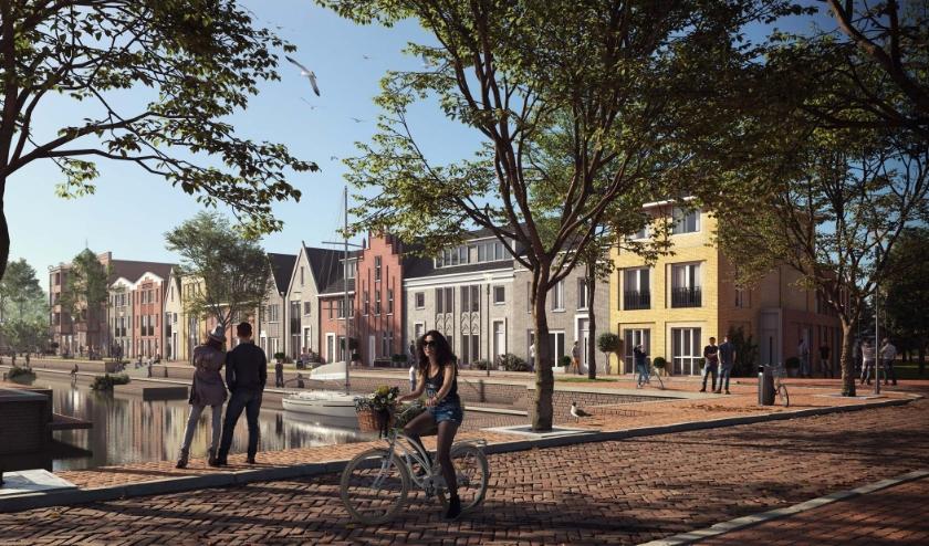 Het plan voorziet in een zorgvuldige overgang tussen de 'Zuiderzee' architectuur van de Watersportboulevard en het meer industriële en grootstedelijke karakter van de Kade.