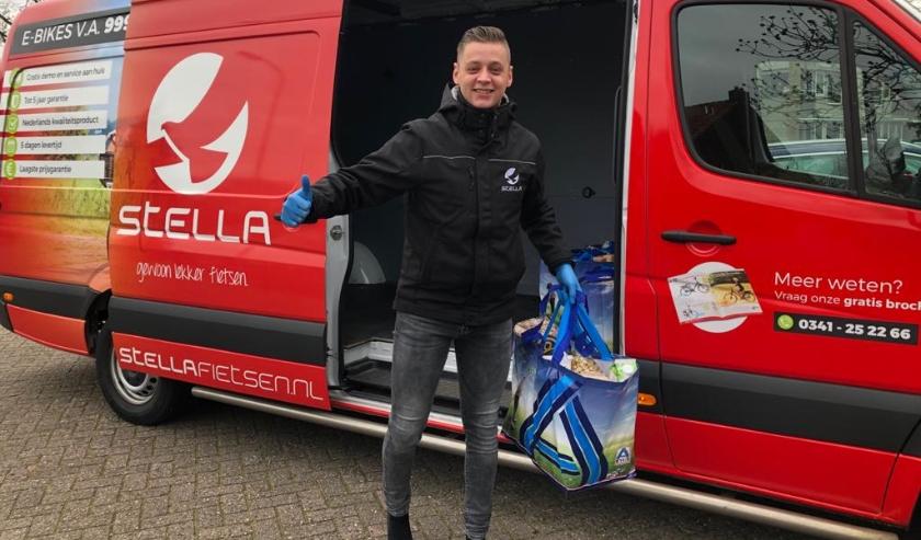 Voedselpakketten worden rondgebracht in Harderwijk, Ermelo en Putten.