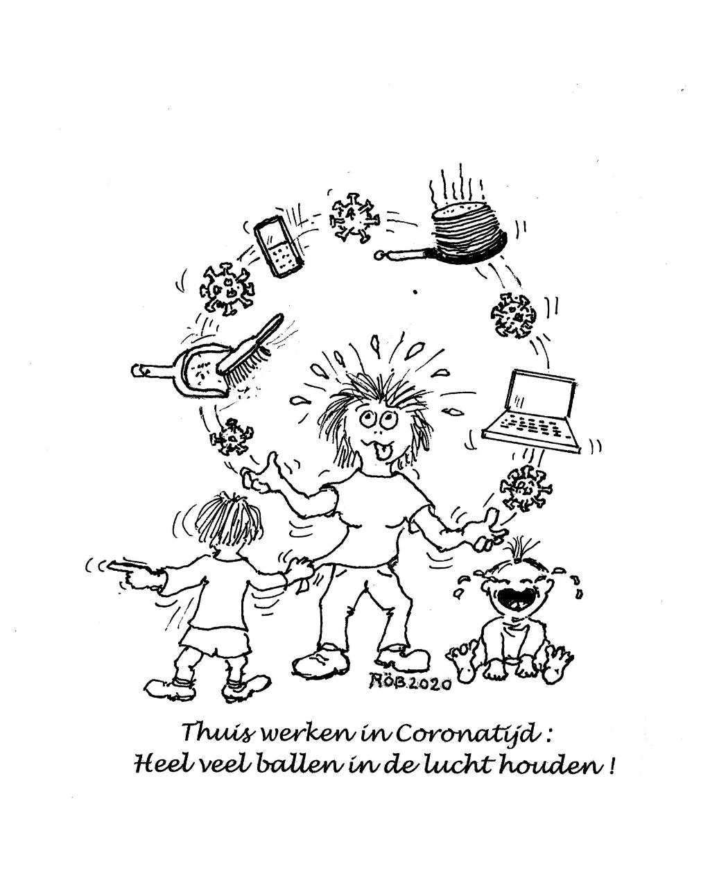 Een cartoon, getekend door Möhlmann. Foto:  © DPG Media