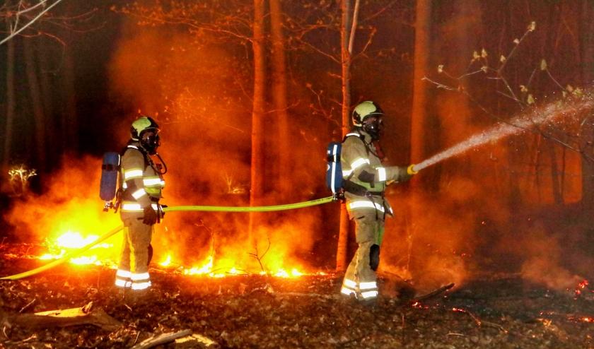 De brandweer heeft het vuur laag kunnen houden.