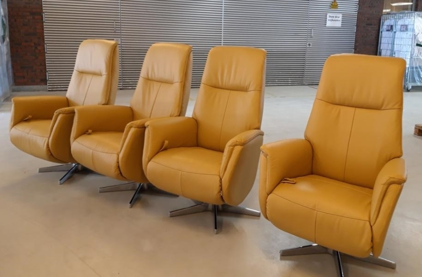 Het type relaxstoel waarvan er door  Prominent uit Nunspeet 100 worden geschonken aan IC-afdelingen.