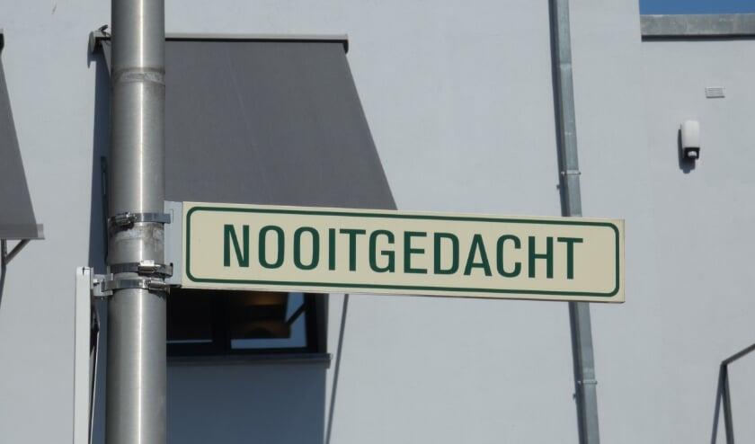 'Nooitgedacht', een straat in Zeist.