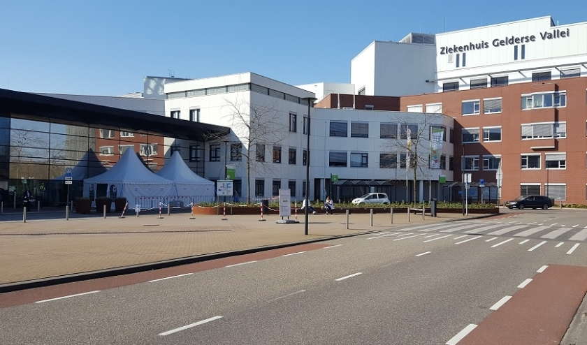 Extra maatregelen bij ziekenhuis Gelderse Vallei in Ede.