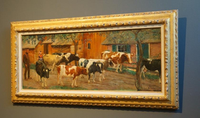 In 'Koeien in Staphorst' bracht Jo Koster haar liefde voor het platteland tot uitdrukking. (foto: Voerman Museum Hattem)