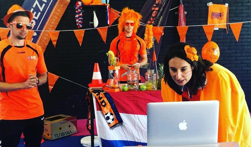 Aan de eerste editie van de Gelderse Online Koningsspelen werd ook in Oldebroek meegedaan. (Foto: Goed Bezig Oldebroek)