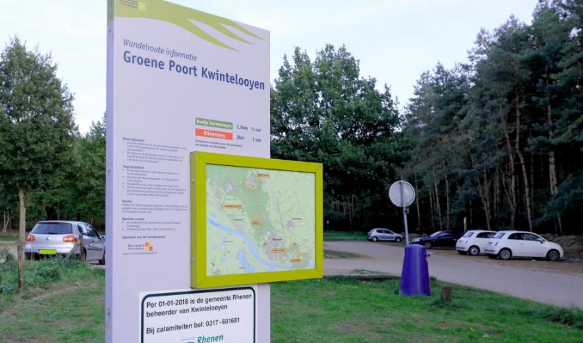 Ook de parkeerplaats van Kwintelooijen wordt afgesloten. (Archieffoto: Max Timons)