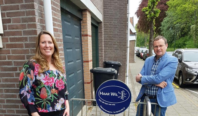 Fractievoorzitter Rob Duiven (fractievoorzitter VVD Zoetermeer) & Wil van Ederen (eigenaresse van Haar Wil)