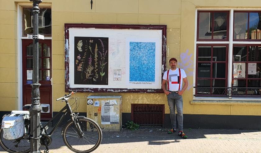 Kunstenaar Michel te Wierik uit Woerden is één van de kunstenaars die meedoet aan de openbare expositie A0 in Utrecht. Foto: Annelotte Stroober