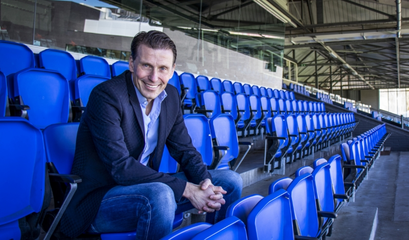 Justin Goetzee (44) is tot en met augustus bij FC Eindhoven in dienst als interim-directeur.