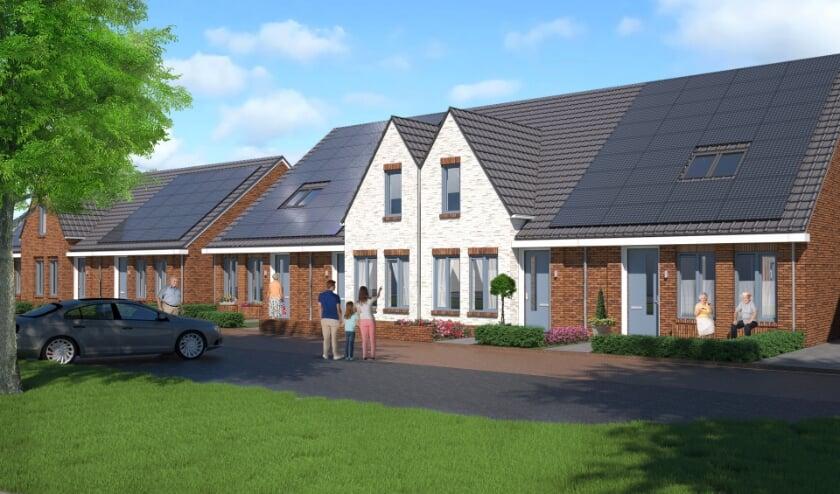 Impressie van de nieuwe woningen die in eerste en tweede fase worden gebouwd. (Foto: Reggewoon)