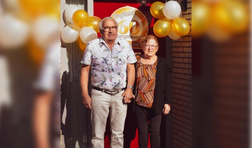 Andries en Hennie van Riemsdijk-van Ooijen 60 jaar bruidspaar