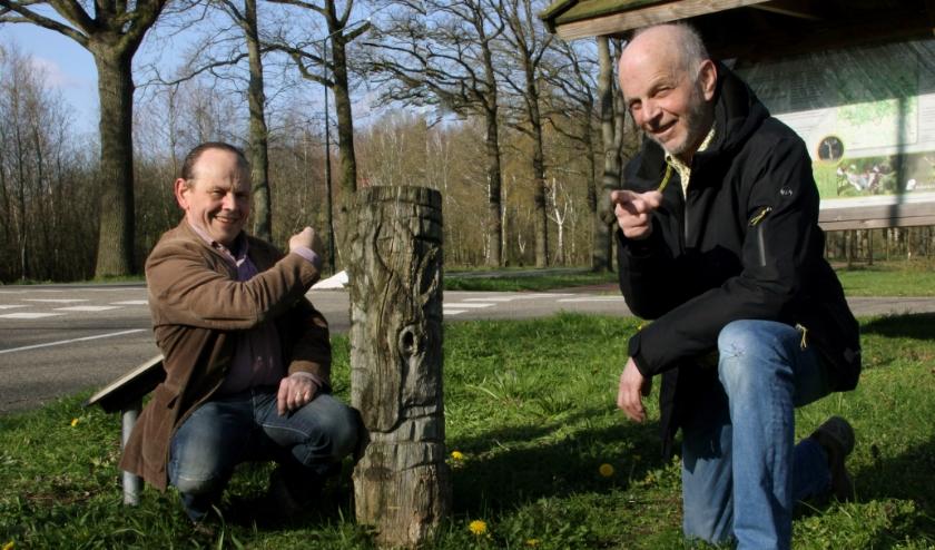 Foto: Links Piet en rechts Frank, (gemaakt door Gerard Schalkx)