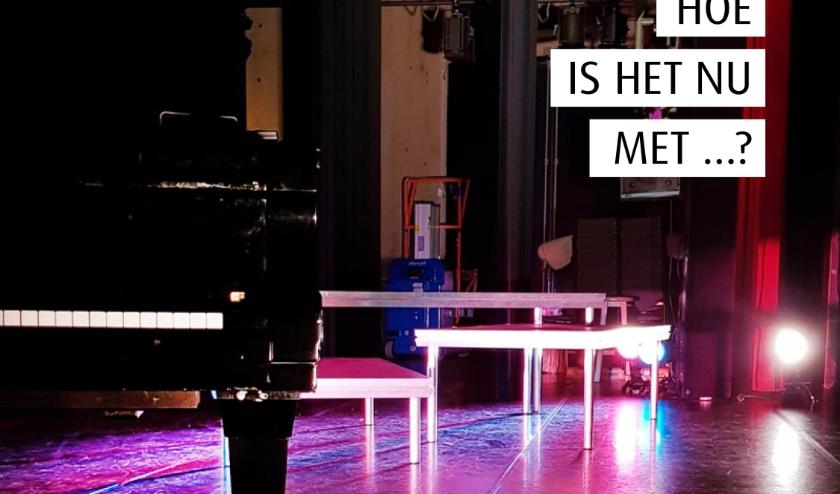 Hoe is het nu met ...? interviews met artiesten bij ons op het podium.