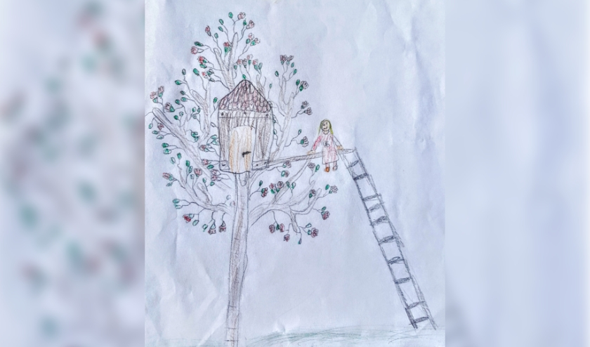 Voorbeeld van een van de boomtekeningen van de hand van Yulanne (8), Foto: HofPower