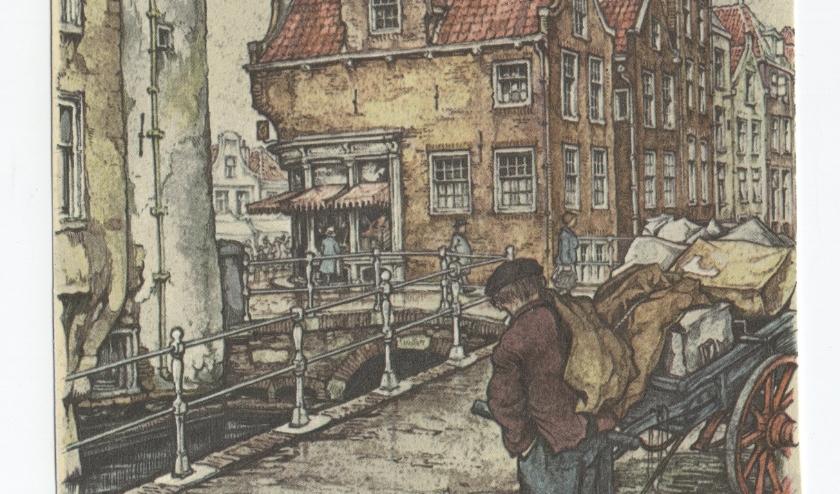De Oude Langendijk op een tekening van Anton Pieck.