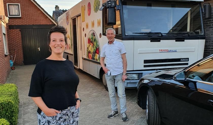 De Vliegende Bakker, Bert ten Berge met zijn oudste dochter Elske.(Foto: Rogier Geertzema)
