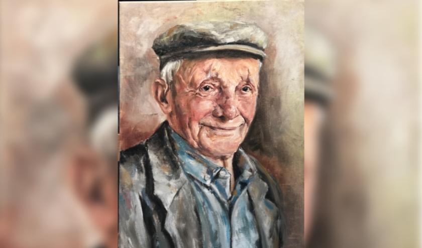 Coby Baas maakte dit prachtige portret van Toon van der Meijden. Helaas heeft hij het nooit in het echt kunnen aanschouwen. Het zou op zijn eeuwfeest worden onthuld.