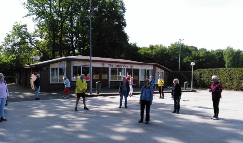 De start van het sporten in tijden van corona. Foto: m.schröder@hetnet.nl